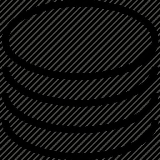 circle, coins, money icon