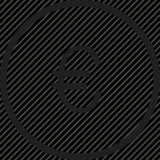 circle, coin, euro, mark icon