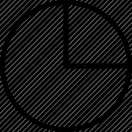 analysis, chart, graph, pie icon