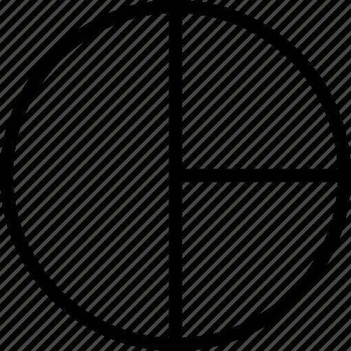 analysis, chart, pie icon
