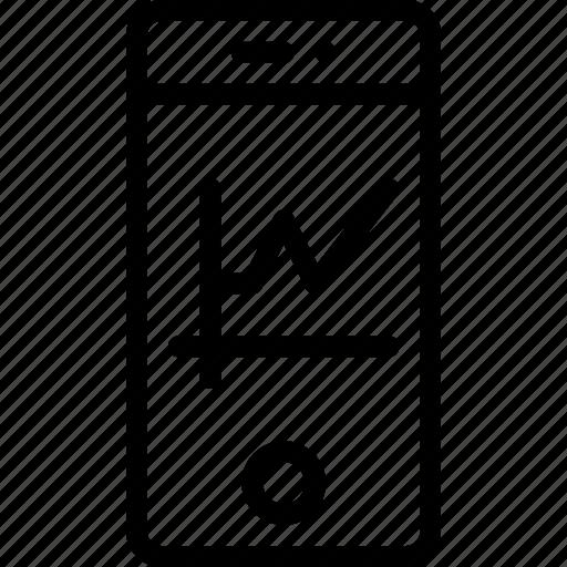 analysis, chart, graph, phone, smart icon
