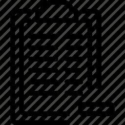 board, clip, minus, paper, remove, report icon