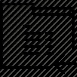arrow, folder, left, paper, report icon