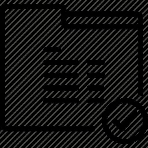 folder, mark, ok, paper, report icon