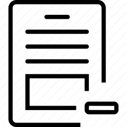 minus, paper, remove, report icon