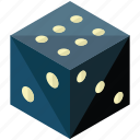 business, dice, finance, game, play icon