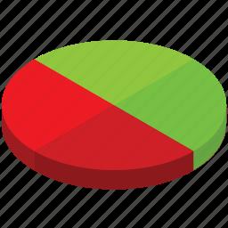 analytics, business, chart, graph, half, pie, statistics icon