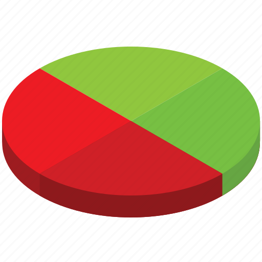analytics, business, chart, graph, half, pie, statistics icon