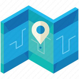 business, chart, location, map, navigation icon