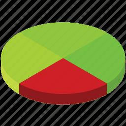 business, chart, graph, pie, quarter, three icon