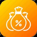 bag, budget, company, interest, money, savings
