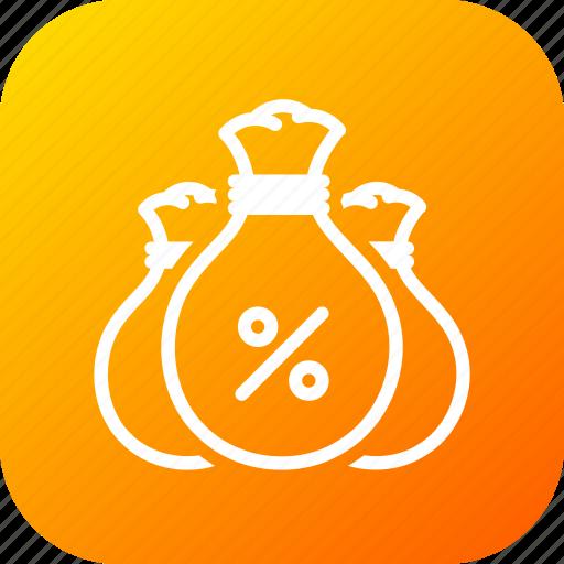bag, budget, company, interest, money, savings icon