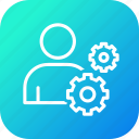 employee, gear, management, profile, settings, user