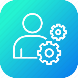 employee, gear, management, profile, settings, user icon
