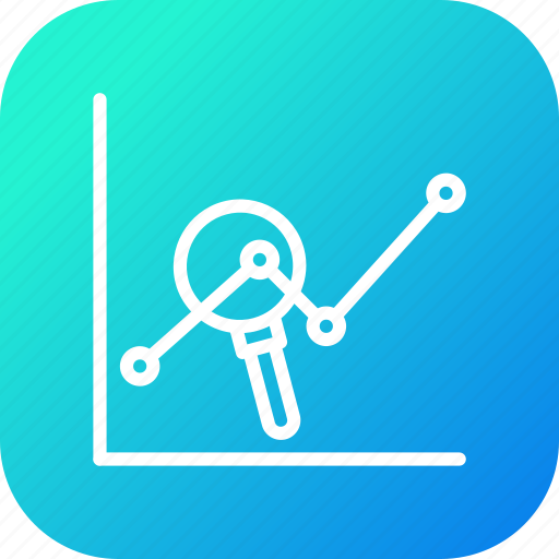 chart, examine, growth, report, review, sales, seo icon