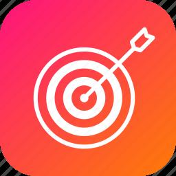 aim, company, future, goal, mission, people, target icon