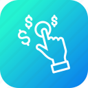 dollar, finance, gesture, hand, management, money icon