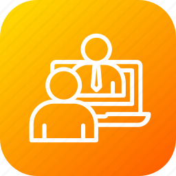 advice, agent, communication, customer, help, online, support icon