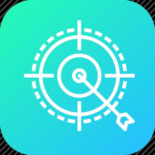 age, customer, gender, people, process, target, targeting icon