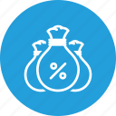 bag, budget, company, interest, money, savings icon