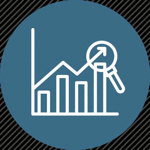 analytics, chart, examine, financial, graph, sales, year icon