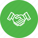 handshake, business, deal, partnership, commitment, aggrement, affability icon