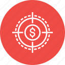 earning, finance, financial, goal, market, sales, target icon