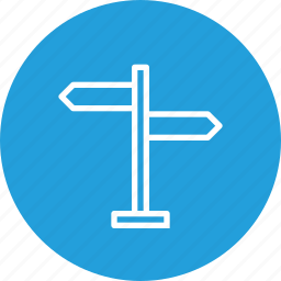 direction, indication, of, road, service, sign, signal icon