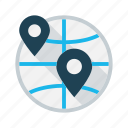 branches, business, globalization, globe, location, partner, place icon