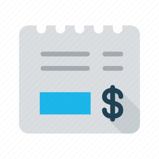 bill, business, invoice, payment, purchase, receipt, tax icon