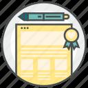 blog, content, media, website icon