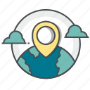 country, gps, map, marker, navigation icon