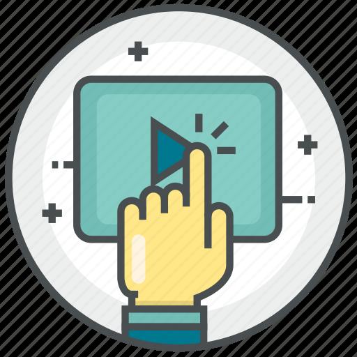 communication, internet, marketing, media, video icon