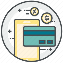 card, cash, credit, mobile, payment icon