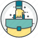case, documents, extension, office, portfolio icon