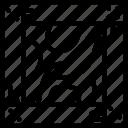 crate, dolar, money icon