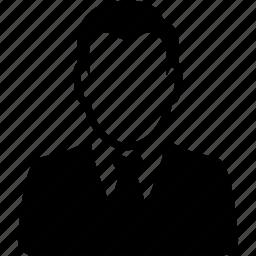 account, avatar, business, man, person, profile, user icon