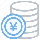 cash, coin, cold yen, currency, finance, japan, money, payment, yan coin, yen icon icon