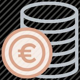 coin, euro, europe, money icon icon