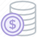 coin, dollar, money, sign icon icon