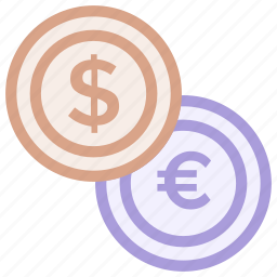 coin, dollar, exchange, money, sign icon icon