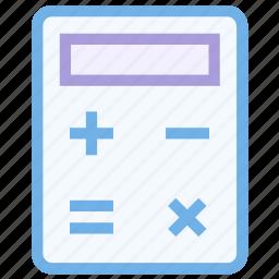 account, accounting, calculate, calculation, calculator, math, mathematics icon icon