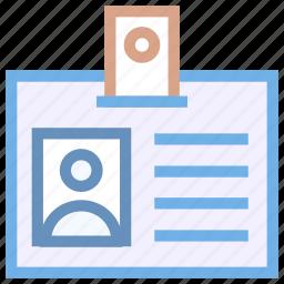 id, id badge, id card, identification icon icon