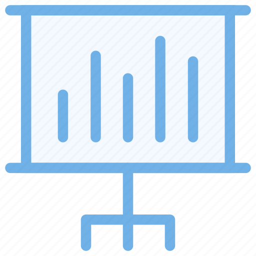 analytics, graph, presentation, training icon icon