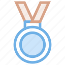 award, badge, gold, medal, prize, reward, trophy icon icon