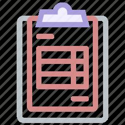 bill, clipboard, invoice, purchase, receipt icon icon