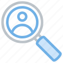 find, friend, people, person, search, user, view icon