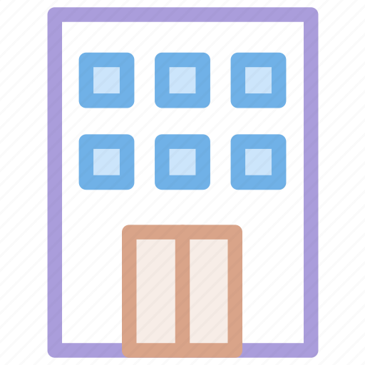 building, city, hotel, office icon icon