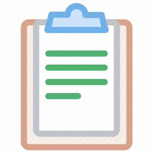 clipboard, pencil, track, write icon icon