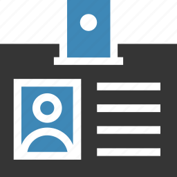 id badge, id card, identification icon, • id icon